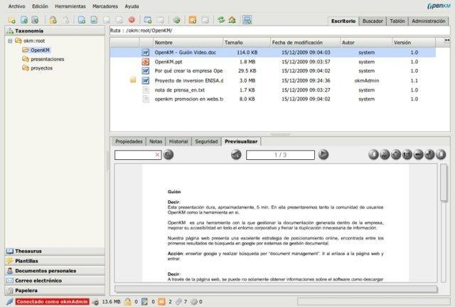 Java开源文档管理系统 OpenKM