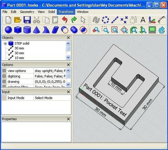 HeeksCAD是一个CAD应用。它可以导入实体模型步骤和 IGES文件,提请建设geomtery及线路和弧线,创造新的原始的固体或固体的挤压草图 或作出坚实放样草图之间。固体可以进行修改,使用混合或布尔行动。保存IGES的,第一步,和STL 。二维几何可策划与一台打印机。 DXF文件可以进口和出口,但仅限于线和圆弧的时刻。这是可能使购买模块使用HeeksCNC项目。