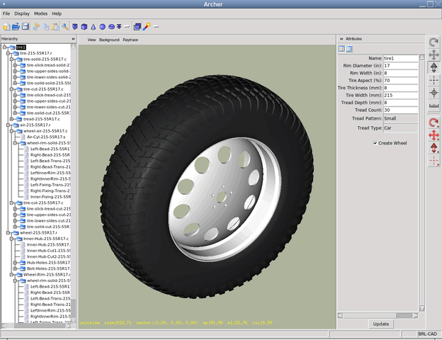BRL-CAD 是一个构造实体几何(CSG) 实体模型计算机辅助设计(CAD) 系统。BRL-CAD 包括一个交互式的几何编辑器,光学跟踪支持图形着色和几何分析,计算机网络分布式帧缓存支持,图像处理和信号处理工具, 可以进行几何编辑、几何分析,支持分布式网络,可以进行图像处理和信号处理。