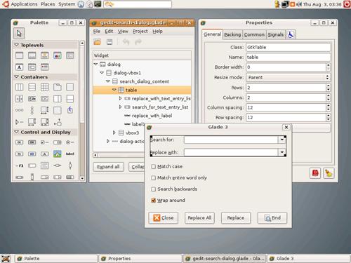 C快速应用开发工具 Glade