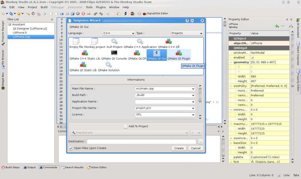 Qt集成开发环境IDE Monkey Studio
