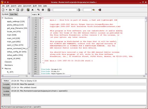 C语言轻量级IDE Geany