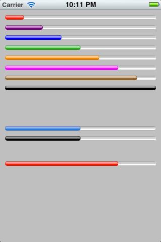 ios 彩色进度条 pdcoloredprogressview