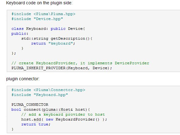 C++ 插件框架:Pluma Framework