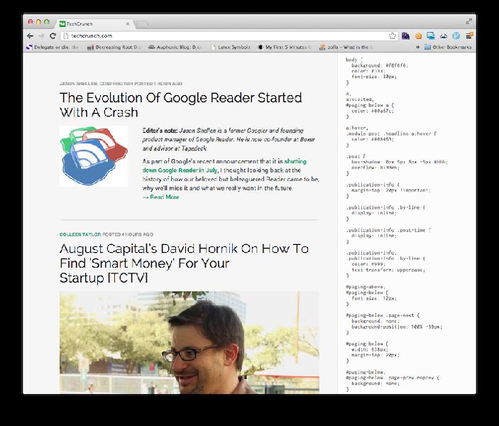自定义网页CSS页的Google Chrome扩展:My Style