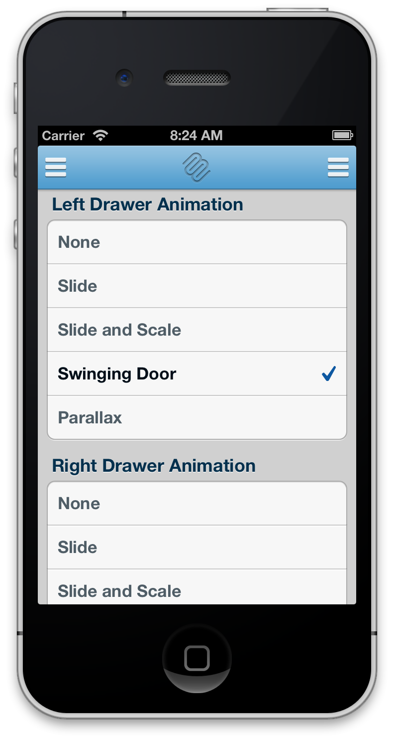 iOS侧边抽屉导航控件:MMDrawerController