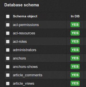 数据库结构管理