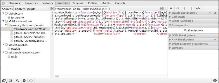 Google Chrome调试js代码