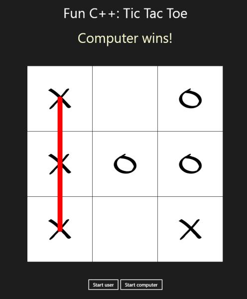 用C++编写一个井字游戏 (Tic Tac Toe)