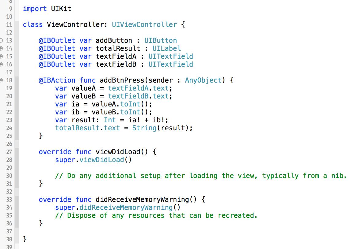 使用swift语言编写iOS应用