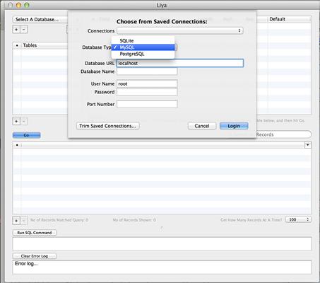 Mac OS X 系统中的数据库管理工具:Liya