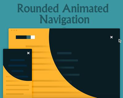 css 和 jquery 制作动画效果全屏导航:rounded