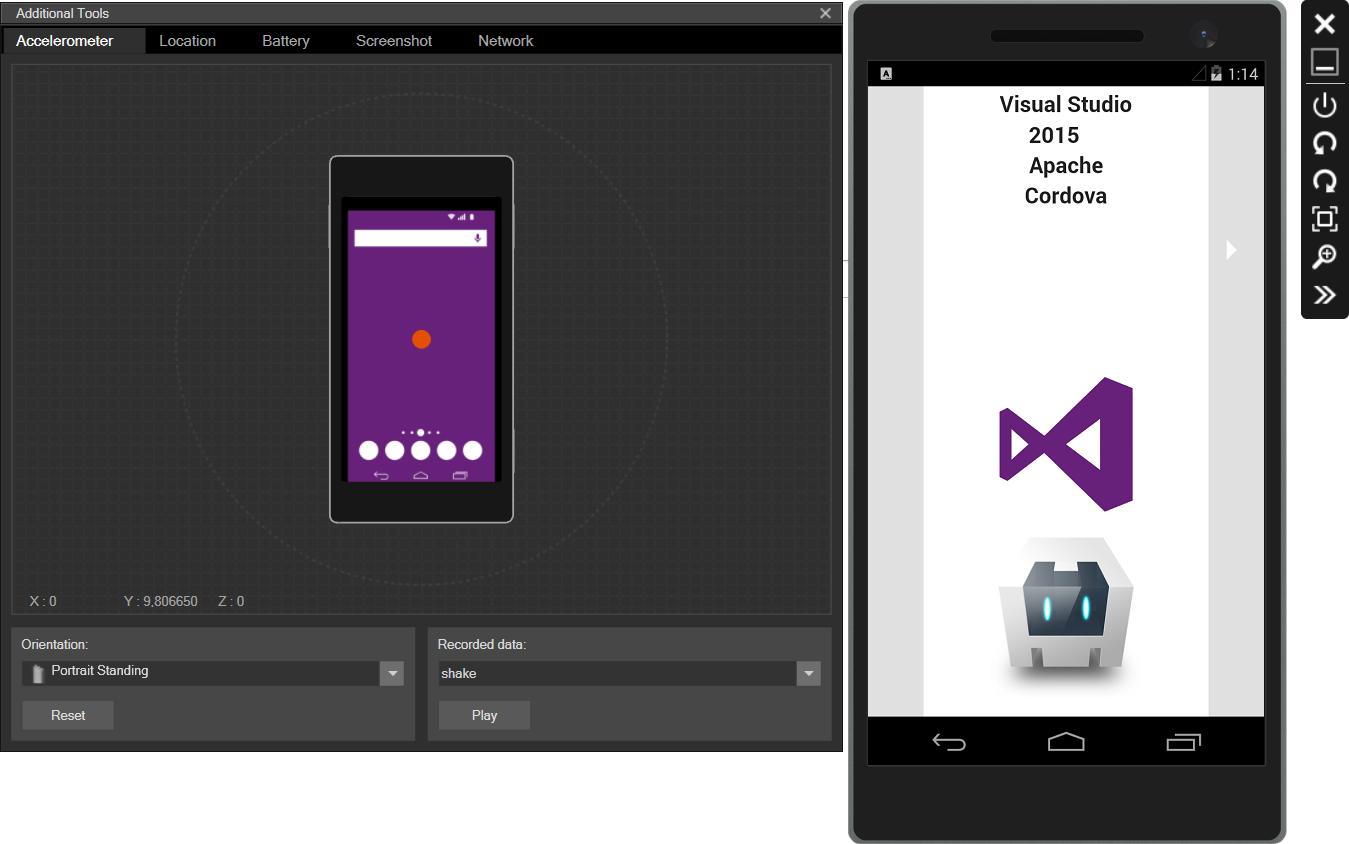 Visual Studio 2015 和 Apache Cordova