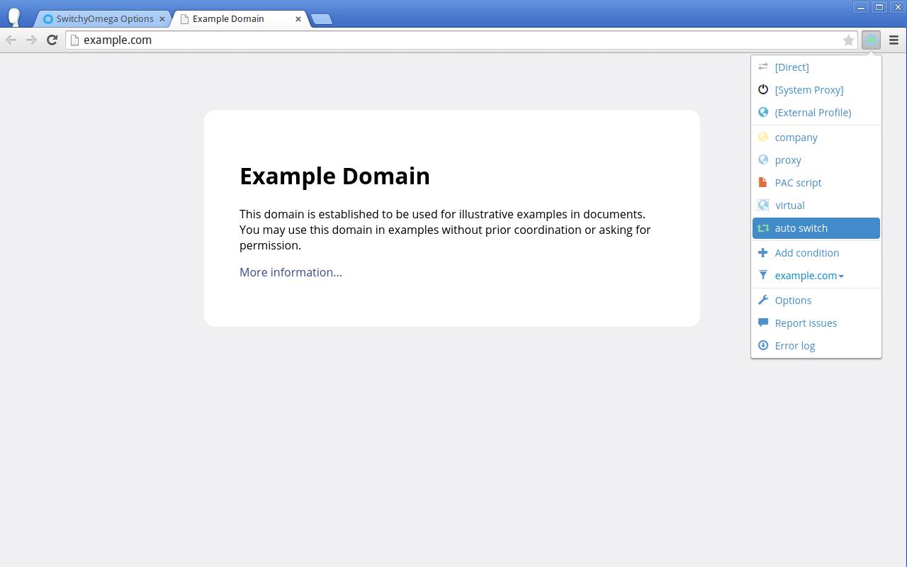 Chrome 代理切换插件:SwitchyOmega