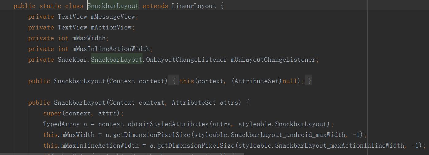 Android Support Design 库 之 Snackbar使用及源码分析