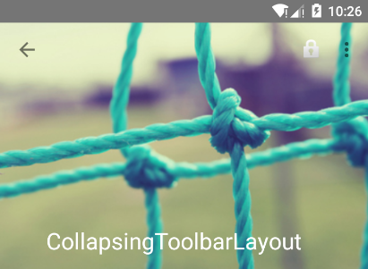 Android5.0+(CollapsingToolbarLayout)