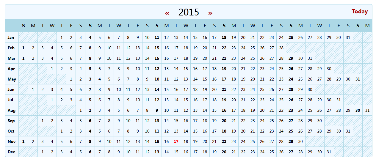 Year Calendar Js : React js的年日历组件:react yearly calendar open 开发经验库
