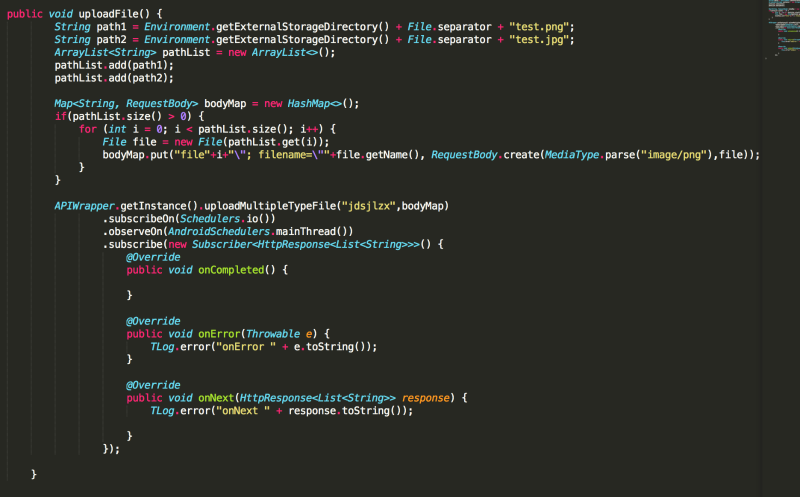 Android Retrofit 实现文字(参数)和多张图片一起上传