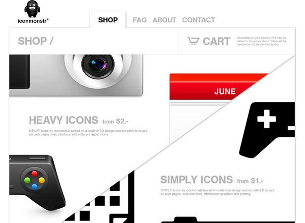 iconmonstr 主要是销售图标的设计,设计人的口味一项简洁干爽.