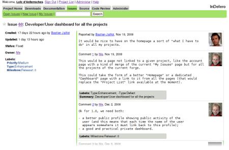 项目管理软件 InDefero