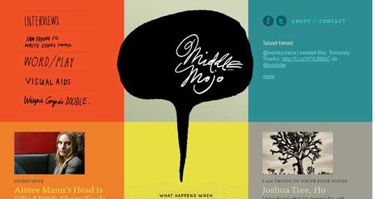 25 个有创意的手绘风格的网页设计
