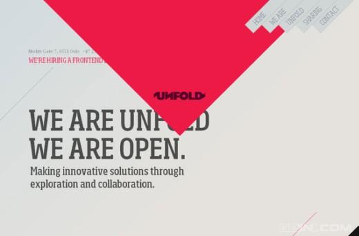 分享50个使用非比寻常导航菜单设计的创意网站