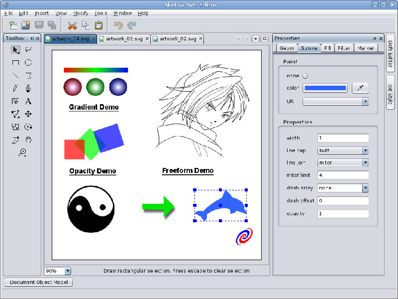 svg的矢量图创建工具 sketsa