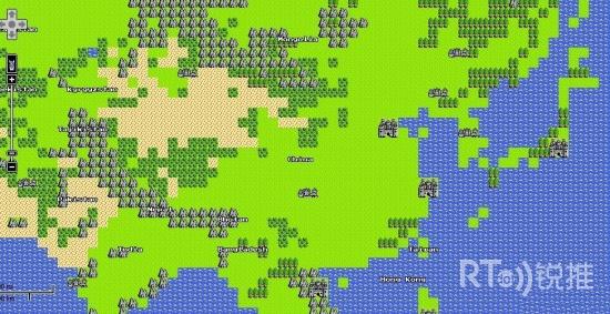 google推出愚人节nes八位地图 还原勇者斗恶龙