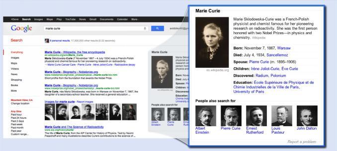"Google发布""知识图谱"":为用户提供有完整知识体系的搜索结果"
