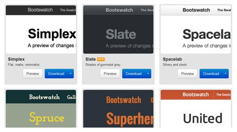 推荐12款优秀的 Twitter Bootstrap 组件和工具