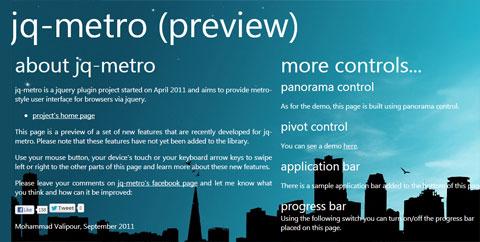 创建 Windows 8 Metro UI 风格网站所需要的资源集合