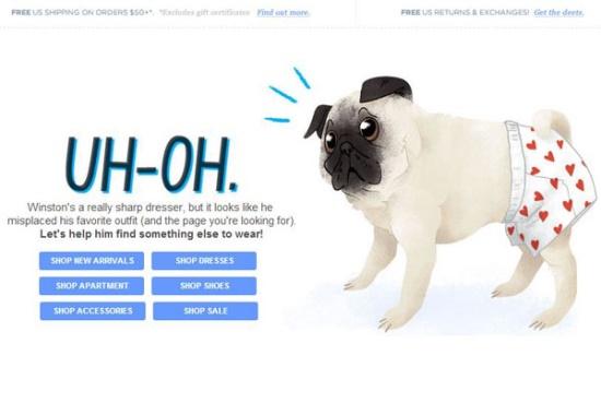 404 错误页面设计示例
