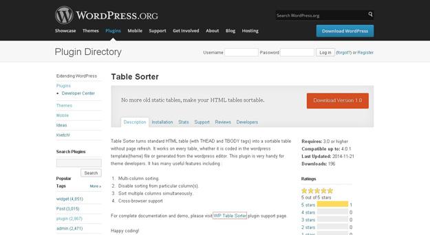 table-sorter