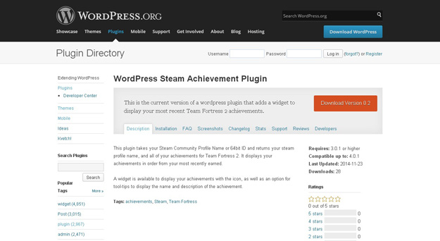 wordpress steam achievements