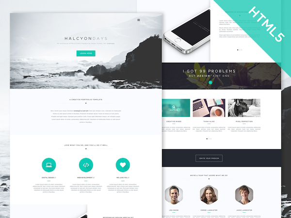 Minimalist Website Template. minimal personal website template ...