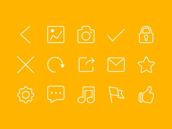 为web设计人员准备的30个新鲜和扁平化图标集