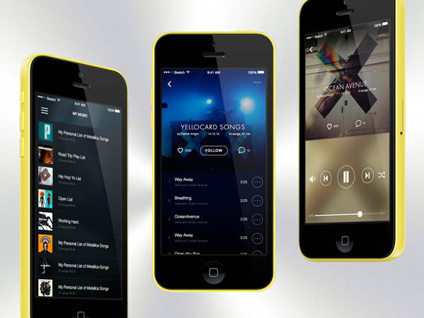 Music App UI .Sketch