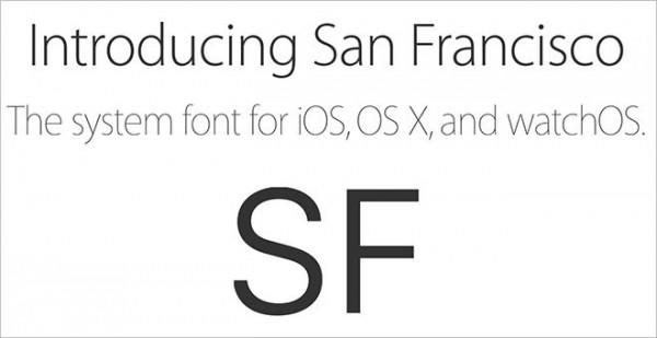 苹果向开发者开放San Francisco字体下载页面
