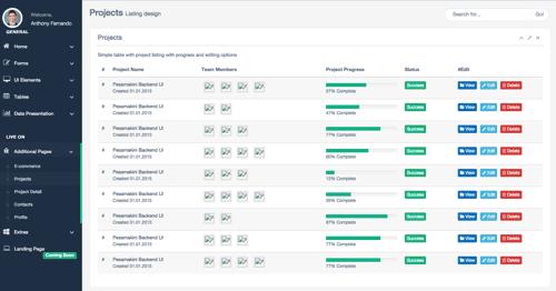 使用bootstrap搭建的admin管理模板