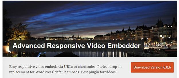 提出响应式视频嵌入器