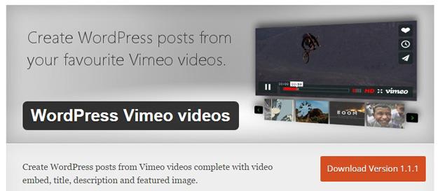 wordpress vimeo视频