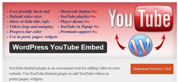 wordpress youtube嵌入