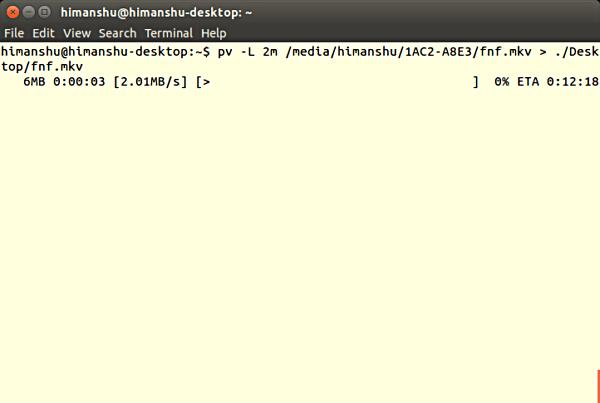 如何使用 pv 命令监控 linux 命令的执行进度
