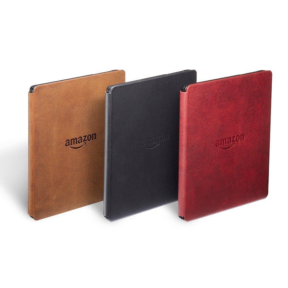 Kindle Oasis 自带可拆卸的皮质充电保护套,有斯诺克黑、波尔多红和羊皮卷棕三款颜色可供选择,翻开或合上即可让设备启动或待机。 很多用户现在最关心的问题就是 Kindle Oasis 的价格了。Kindle Oasis 的售价为 290 美元,在中国市场的售价为 2399 元,是 Amazon 推出的最昂贵的电子书阅读器。从今天开始,用户已经可以在 Amazon 官方网站上预定 Kindle Oasis 了,它将在 4 月 28 日正式在中国上市销售。 个人觉得这个价格相比之前的几款 Kindl