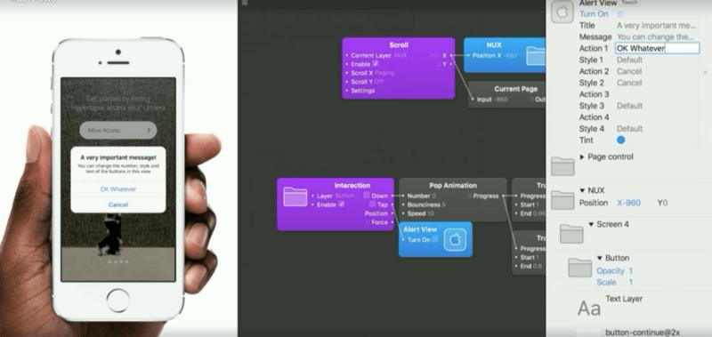 设计语言的原型开发工具,这款工具提供了必要的设计要素,动画效果以及