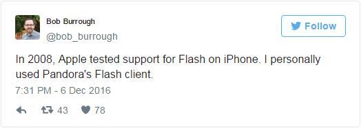 前工程师透露乔布斯不允许iPhone运行Flash的真实原因