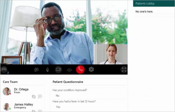 微软推动Skype for Business延伸至医疗领域