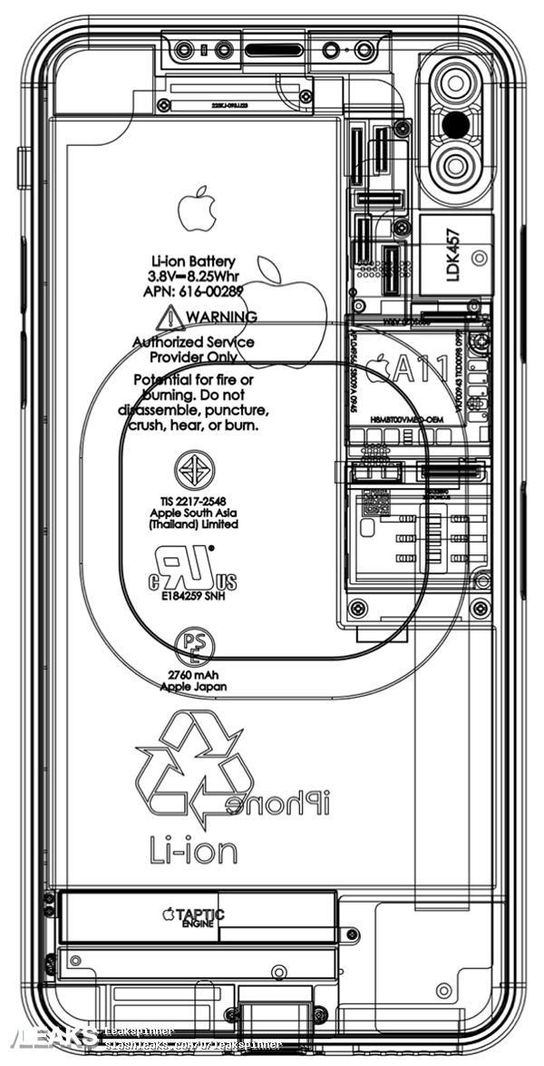 A11加持!iPhone 8设计图曝光:无线充电/全面屏