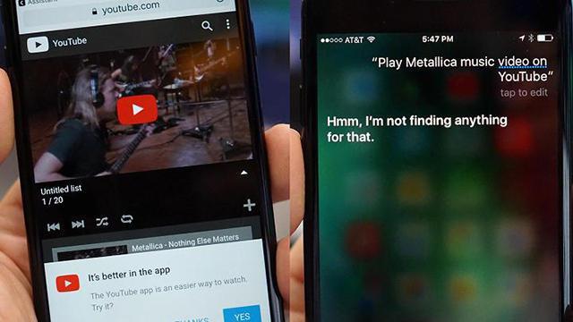 谷歌助手进驻iPhone 媒体评测发现Siri输得很惨