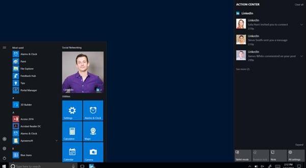 Win10新版来了:将加入桌面端LinkedIn应用
